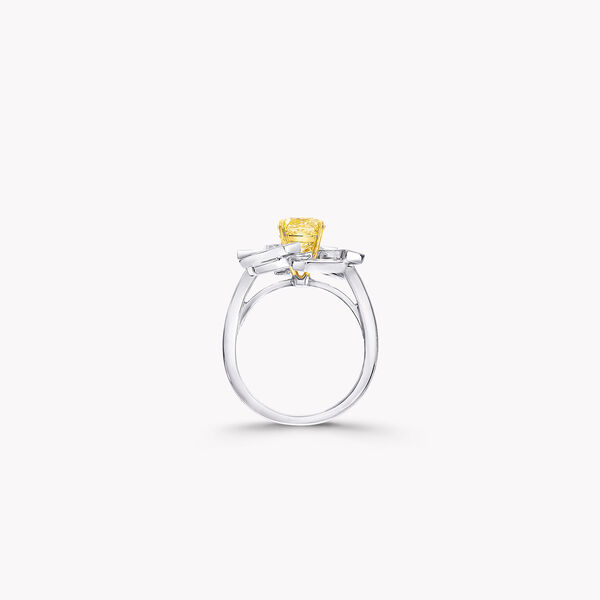 Threads Yellow and White Diamond Ring, , hi-res