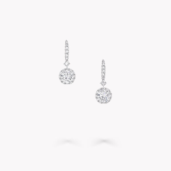 Icon Round Diamond Earrings, , hi-res