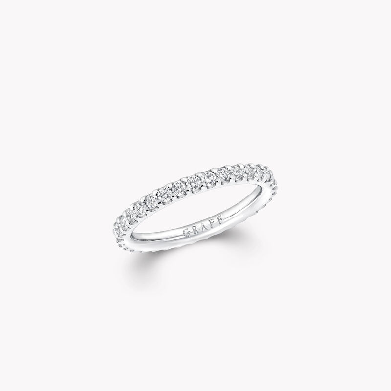Alliance en diamants ronds, , hi-res