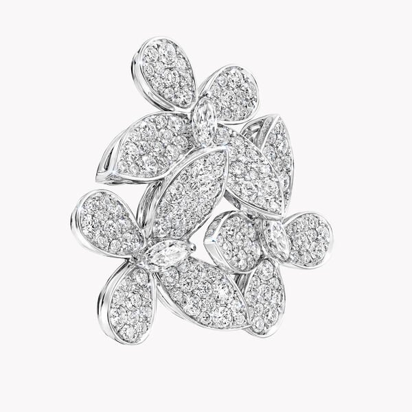 Triple Pavé Butterfly Diamond Earrings, , hi-res