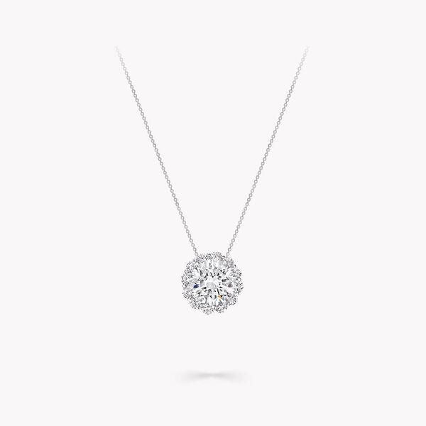 Icon Round Diamond Pendant, , hi-res