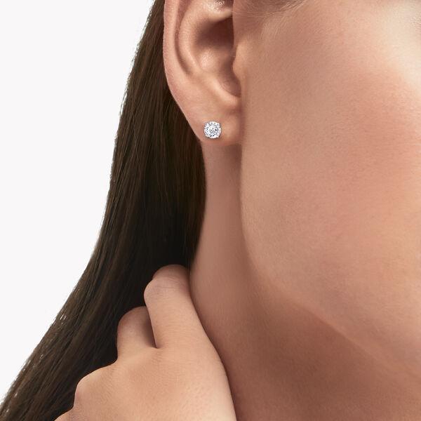 圓形鑽石耳釘, , hi-res