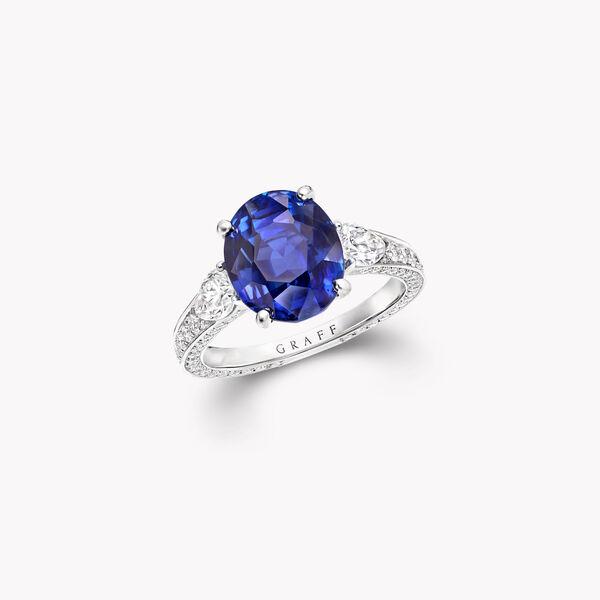 橢圓形藍寶石戒指, , hi-res