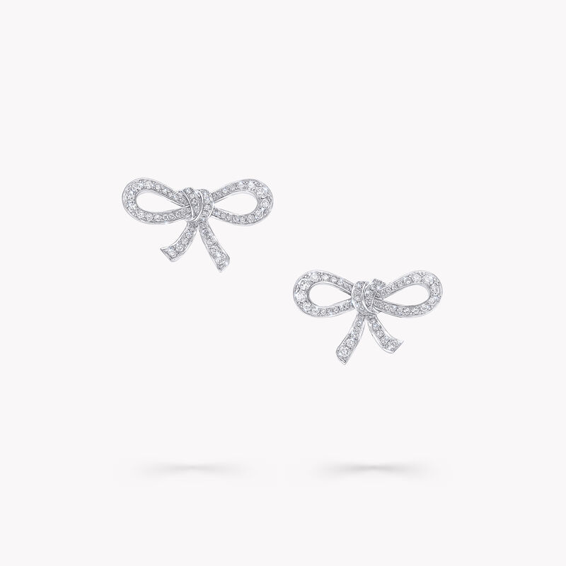 Tilda's Bow Mini Diamond Stud Earrings, , hi-res