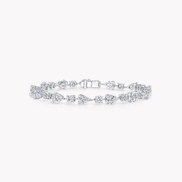 Multi-shape Diamond Bracelet, , hi-res
