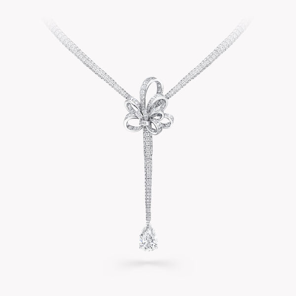 Tilda's Bow Diamond Drop High Jewellery Necklace, , hi-res