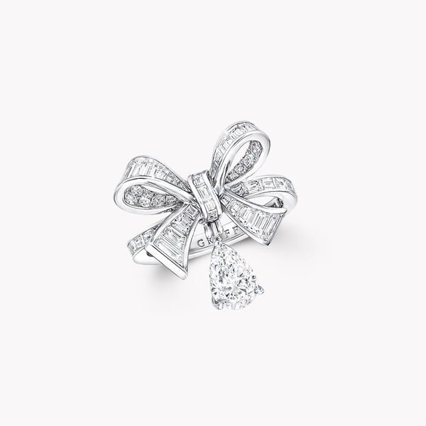 Bague goutte en diamants taille baguette Tilda's Bow, , hi-res