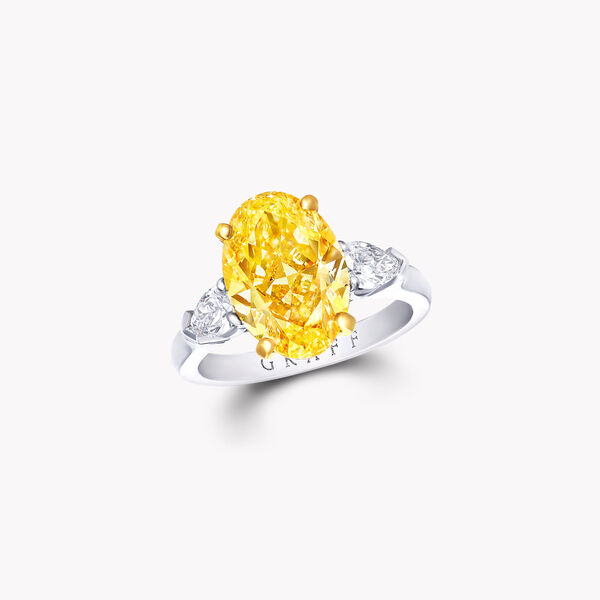 Promise Oval Yellow Diamond Engagement Ring, , hi-res
