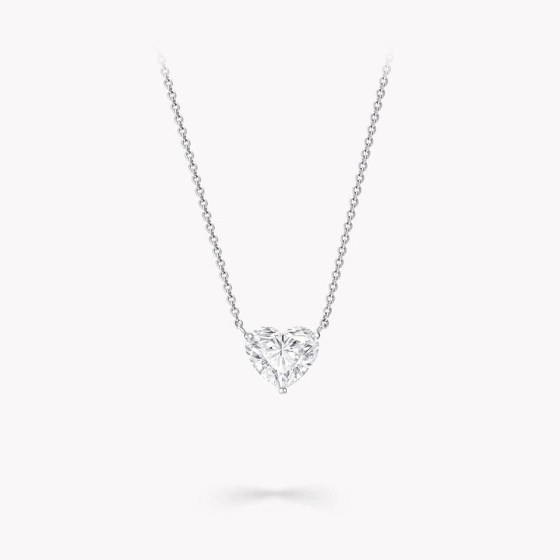 Pendentif en diamants en forme de cœur, , hi-res