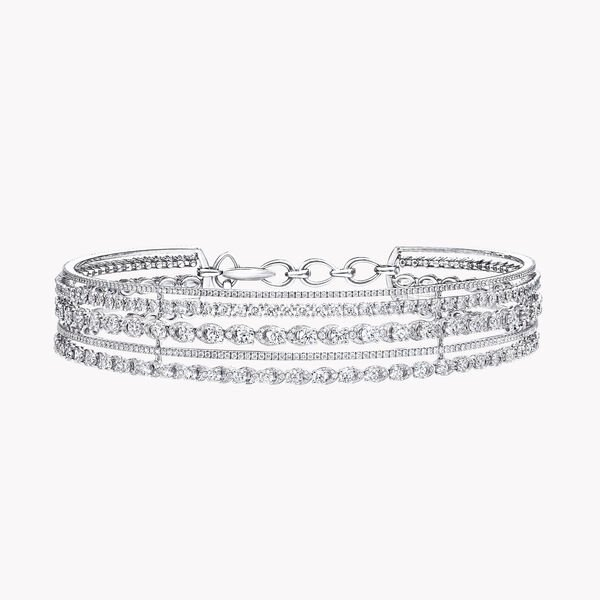 Graff Gateway Five Row Diamond Choker Necklace, , hi-res