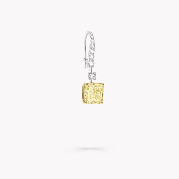 Boucles d'oreilles de haute joaillerie en diamants jaunes et blancs, , hi-res