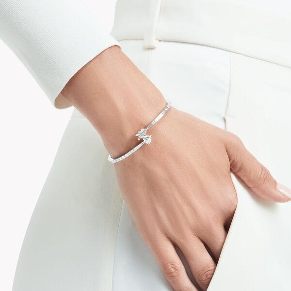 Bracelet rigide en diamants Duet en forme de flèche à enrouler autour du poignet, , hi-res