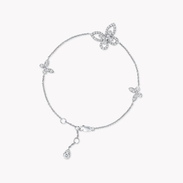 Mini bracelet en diamants Butterfly Silhouette, , hi-res