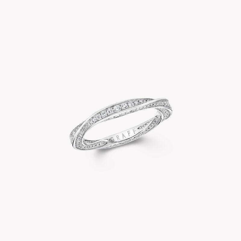 Alliance en pavés de diamants Spiral, , hi-res