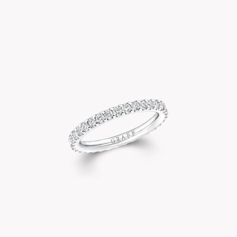 Round Diamond Wedding Band, , hi-res