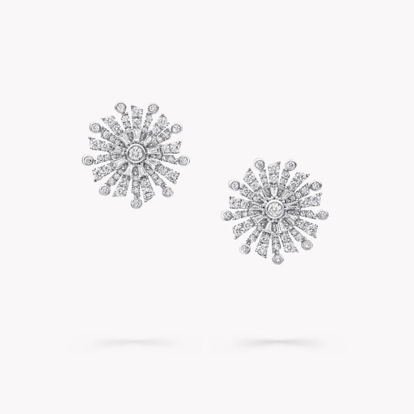 Solar Diamond Stud Earrings, , hi-res