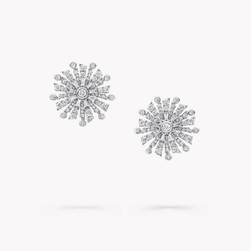 New Dawn Diamond Stud Earrings, , hi-res