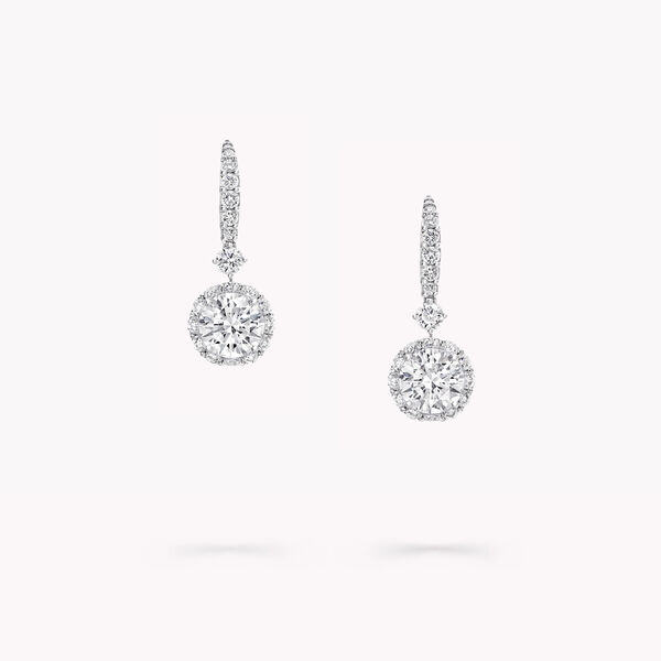 Boucles d'oreilles rondes en diamants Icon, , hi-res