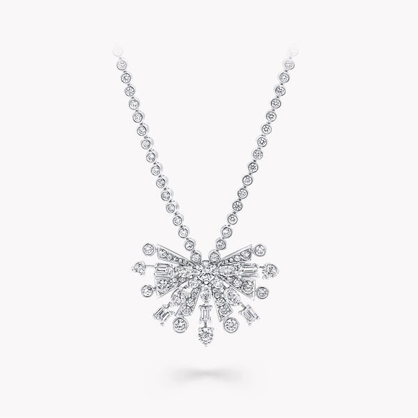 New Dawn Multi-Shape Diamond Chain Pendant, , hi-res