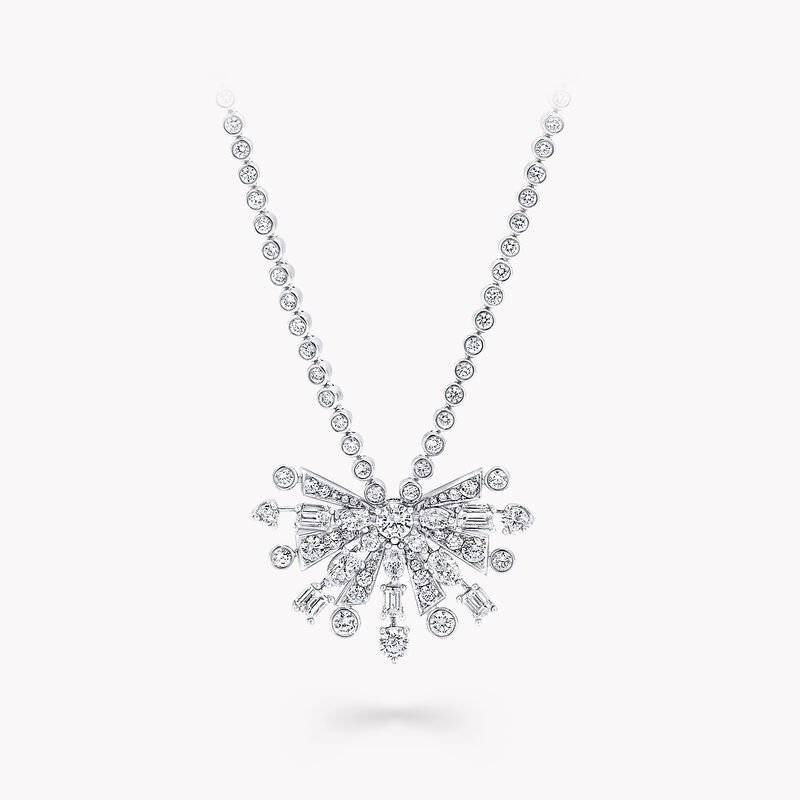 New Dawn Multi-Shape Diamond Chain Pendant, , hi-res