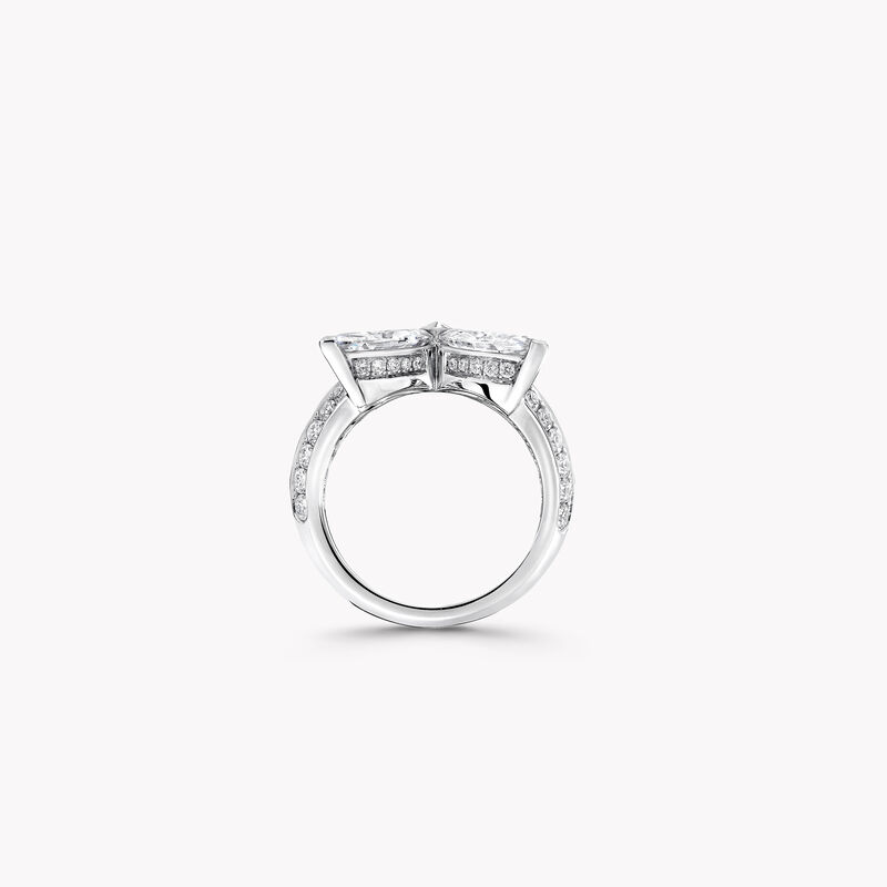 クラシック バタフライ ダイヤモンド リング, , hi-res