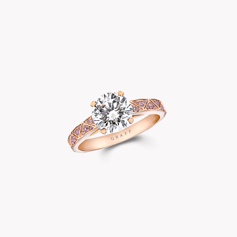 Bague de fiançailles ronde en diamants Laurence Graff Signature, , hi-res