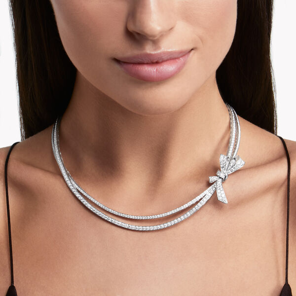 Tilda's Bow Diamond Necklace, , hi-res