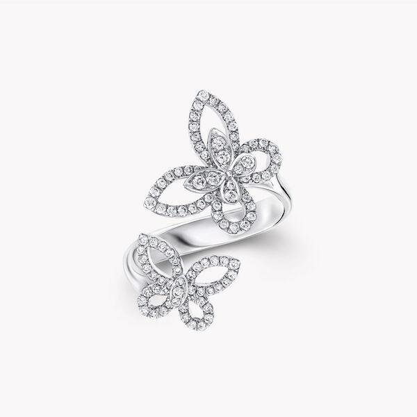蝴蝶幻影雙重奏鑽石戒指, , hi-res