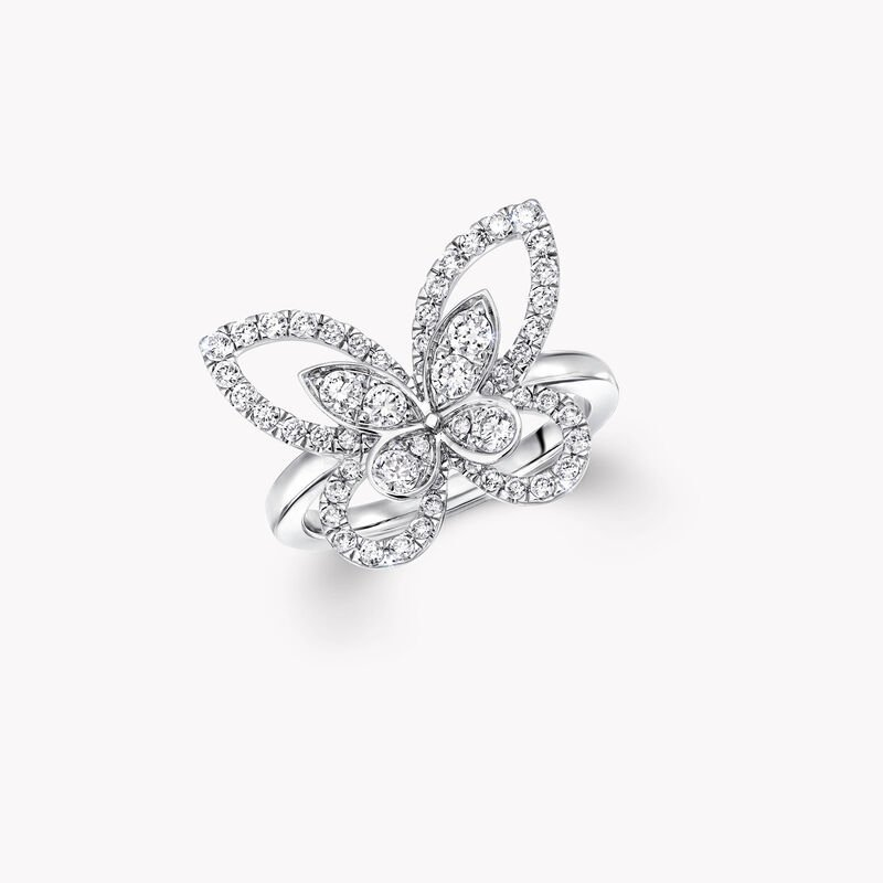 Butterfly Silhouette Diamond Ring, , hi-res