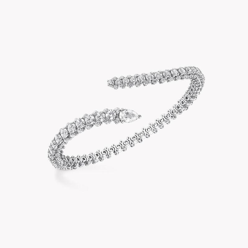 Duet Wraparound Diamond Bangle, , hi-res