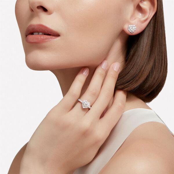 Clous d'oreilles en diamant taille cœur Icon, , hi-res