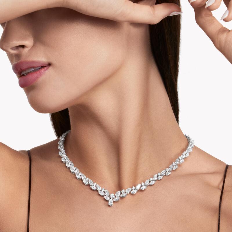 멀티-쉐이프 다이아몬드 네클리스, , hi-res