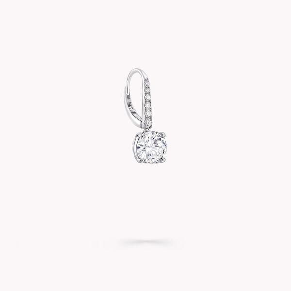 Round Diamond Earrings, , hi-res