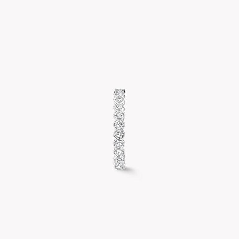 베젤 세팅 라운드 다이아몬드 웨딩 밴드, , hi-res
