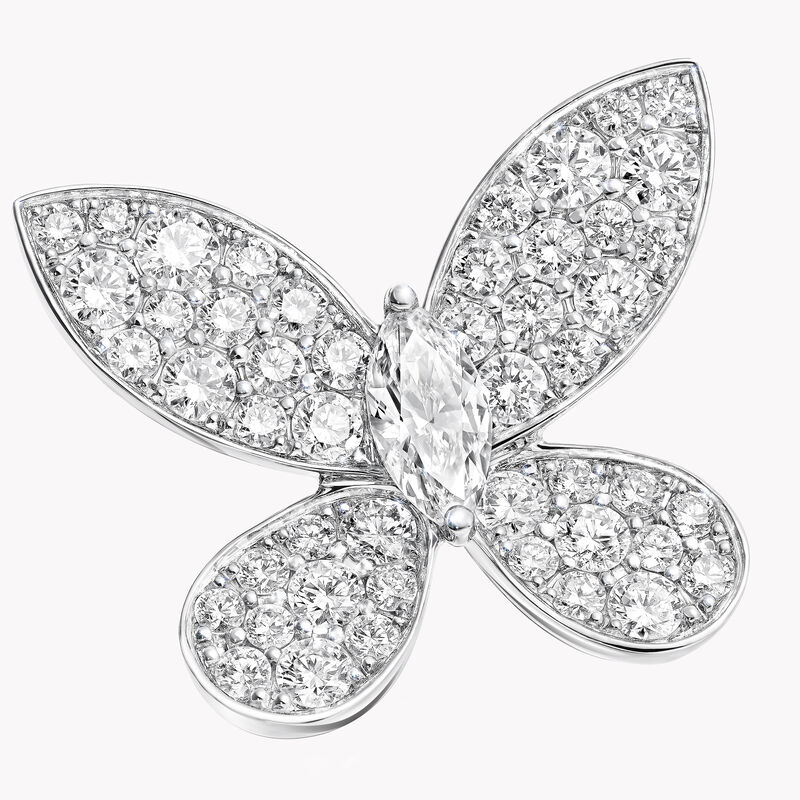 Clous d'oreilles en diamants Pavé Butterfly, , hi-res