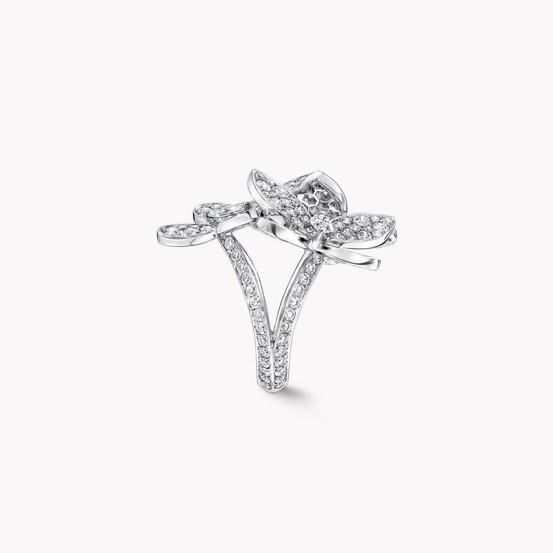 トリプル パヴェ バタフライ ダイヤモンド リング, , hi-res