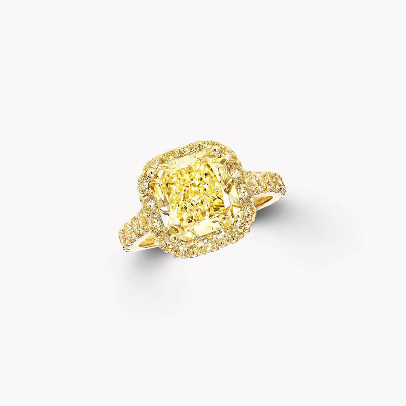 Icon雷地恩形切割黃鑽訂婚戒指, , hi-res