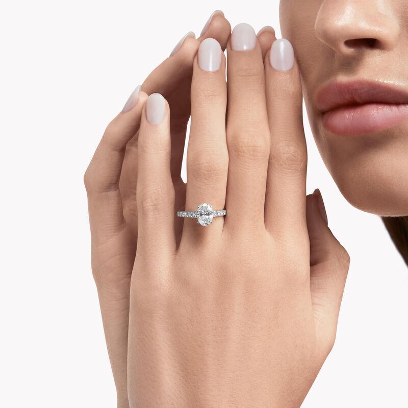 フレーム オーバル ダイヤモンド エンゲージメントリング, , hi-res