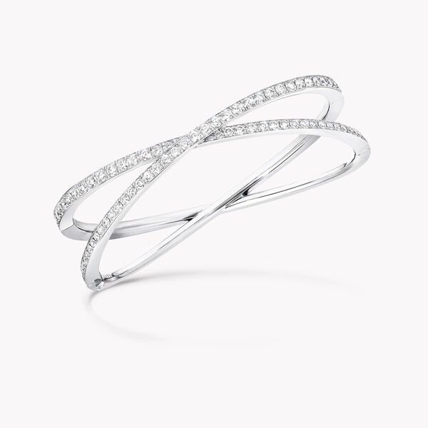 Kiss Pavé Diamond Bangle, , hi-res
