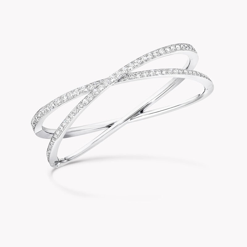 Bracelet rigide en pavés de diamants Kiss, , hi-res