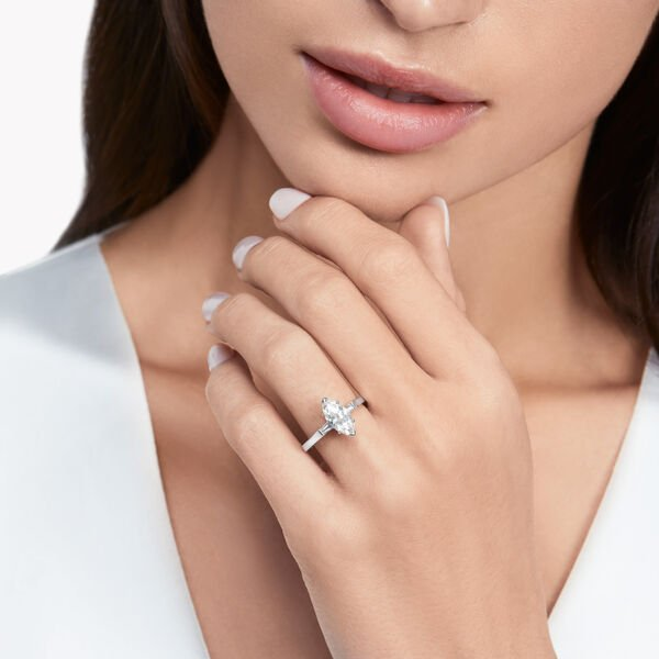 Promise馬眼形切割鑽石訂婚戒指, , hi-res