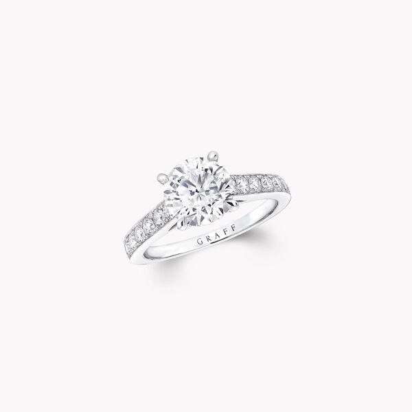 Flame圓形鑽石訂婚戒指, , hi-res