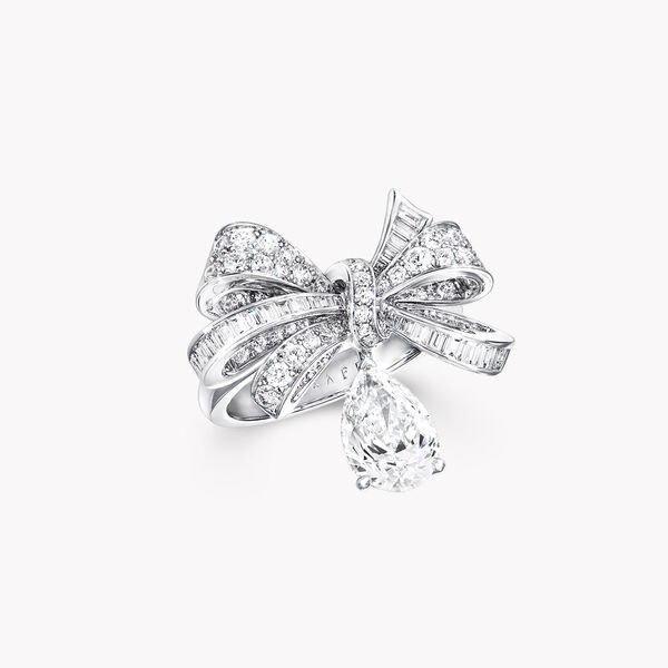 ティルダズ ボウ クラシック ダイヤモンドドロップ リング, , hi-res