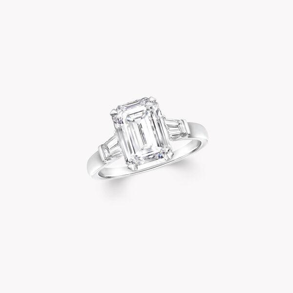 Promise祖母綠形切割鑽石戒指, , hi-res