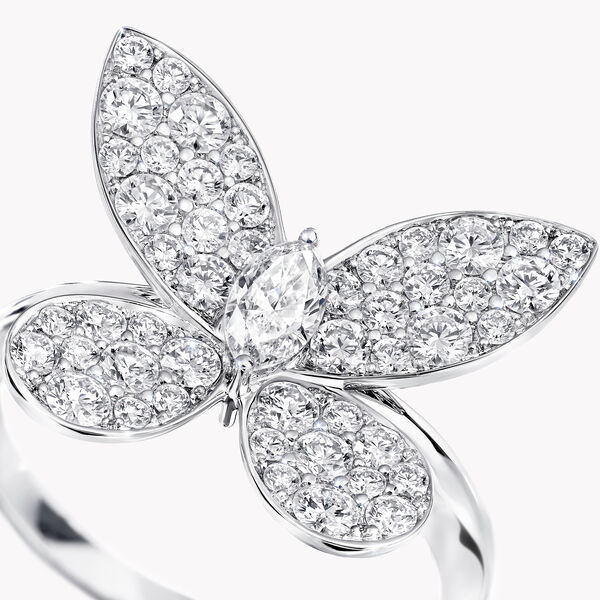 Bague en diamants Pavé Butterfly, , hi-res