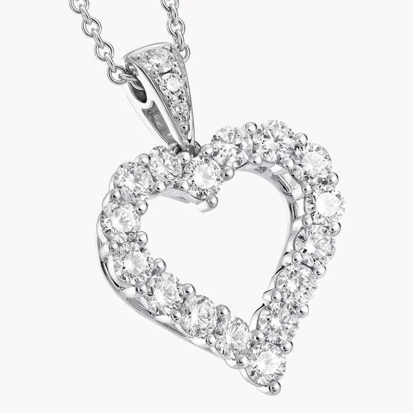 다이아몬드 하트 실루엣 펜던트, , hi-res
