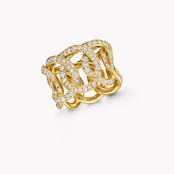 Inspired by Twombly Round Diamond Pavé Band, , hi-res