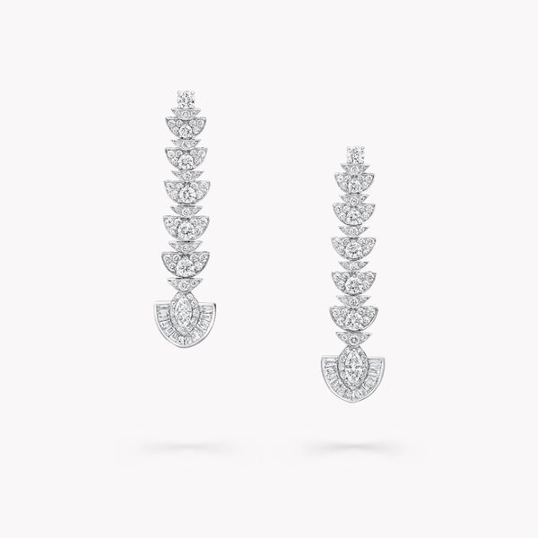 Night Moon Diamond Drop Earrings, , hi-res