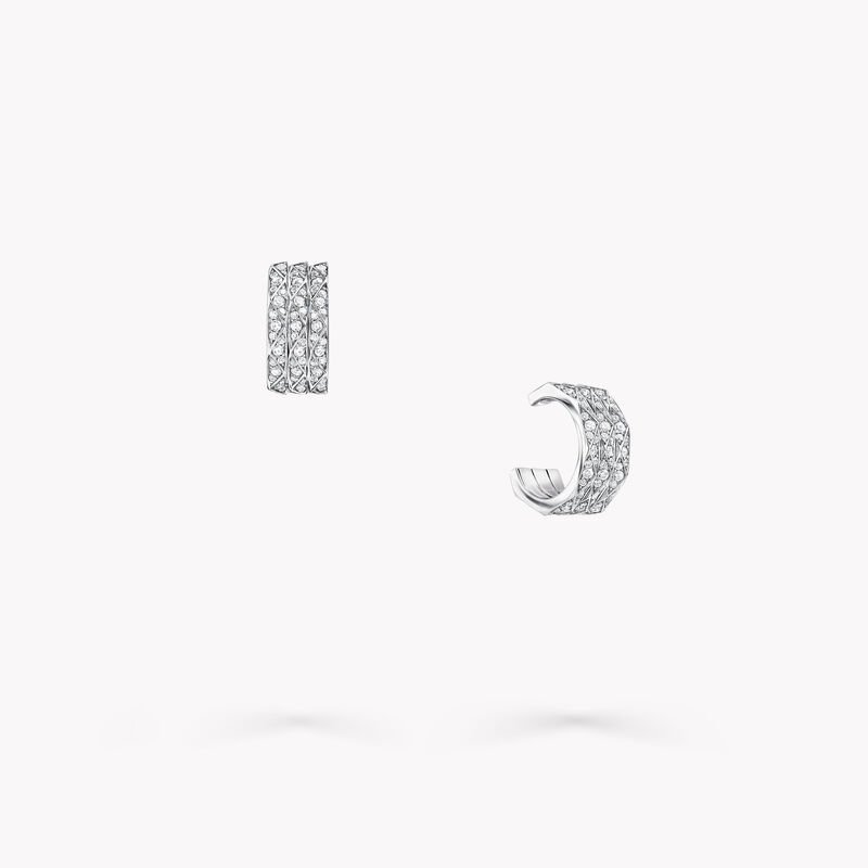 Laurence Graff Signature Triple Pavé Diamond Hoop Earrings, , hi-res
