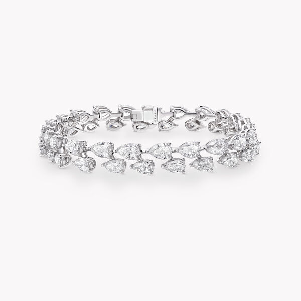 Pear Shape Diamond Bracelet, , hi-res